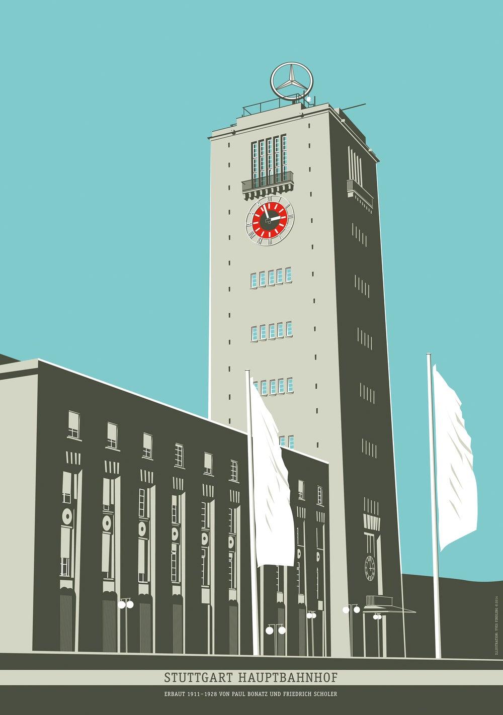 Image of Poster Stuttgart Hauptbahnhof