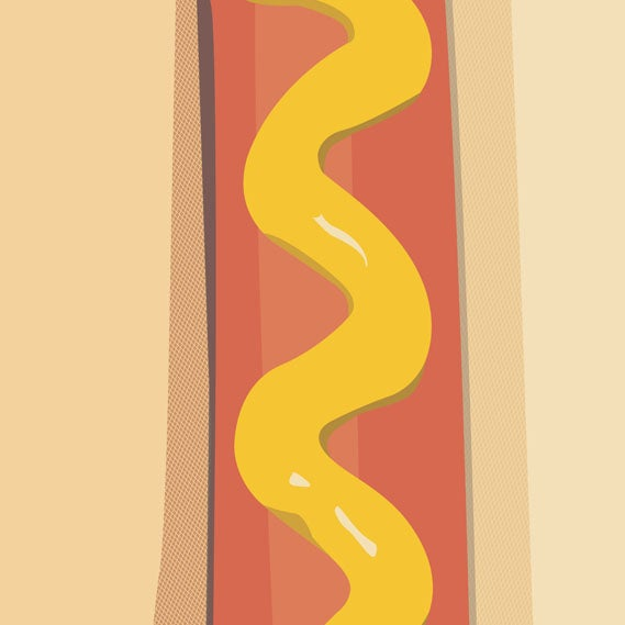 Image of Sleep is cheap and so are hot dogs - 18x32