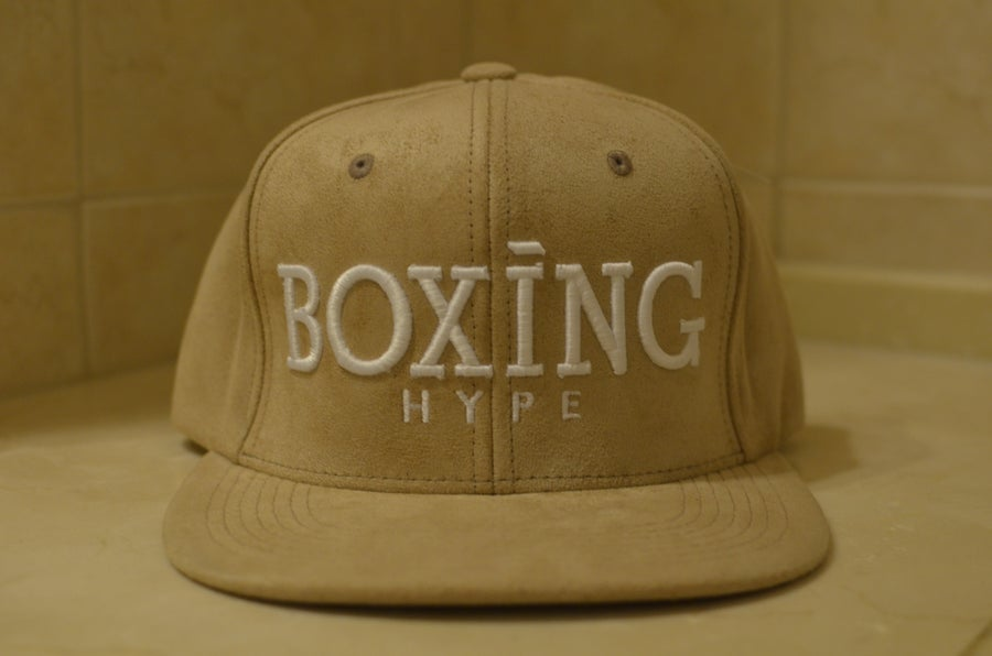 Image of Khaki/white Suede snapbacks