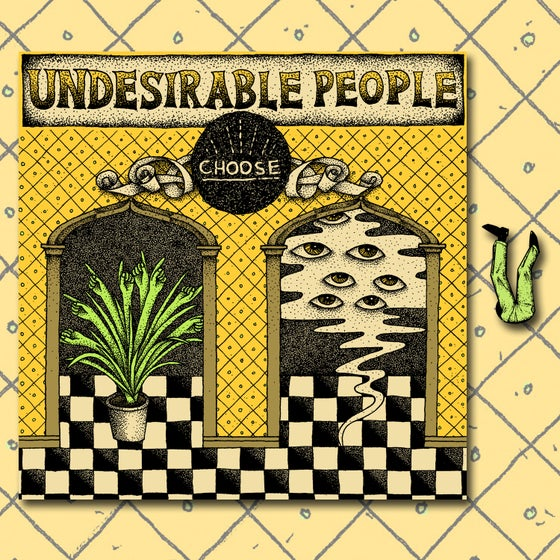 "Image of Undesirable People - Choose 7"" + Enamel Pin Bundle"