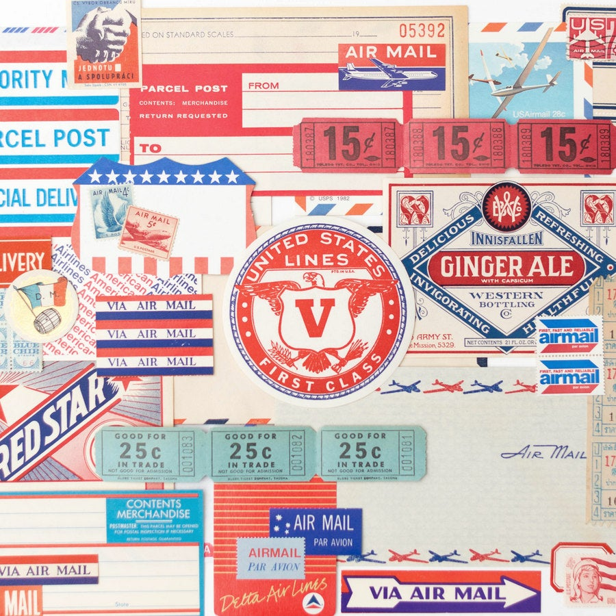 Image of Vintage Paper Pack - Air Mail