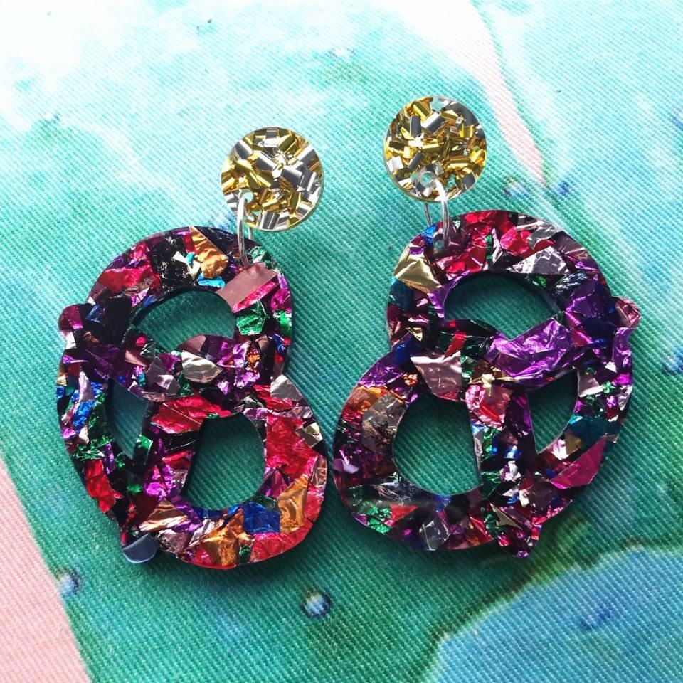 Image of Pretzel Earrings (TWO COLOURS!)