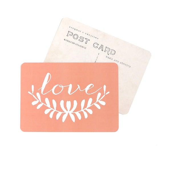 Image of Carte Postale LOVE / ANNA / PÊCHE DE VIGNE