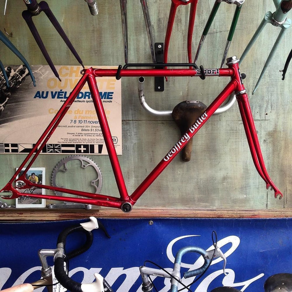 Image of Track frame . Ex Herne Hill, thought to be built by Cliff Shrubb,
