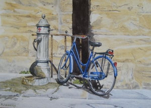 Image of Blue Bicycle, Florence, Print