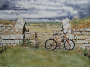 Image of Mountain Bike, Hadrian's Wall, Print