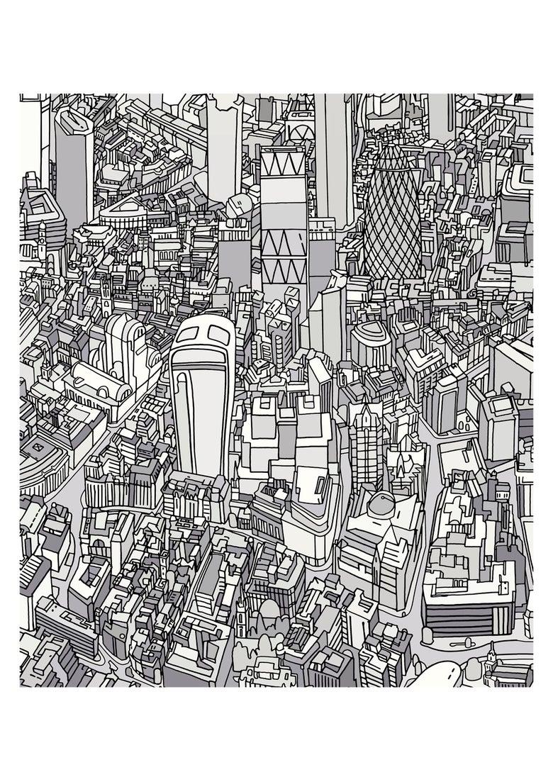 Image of London BW Grid