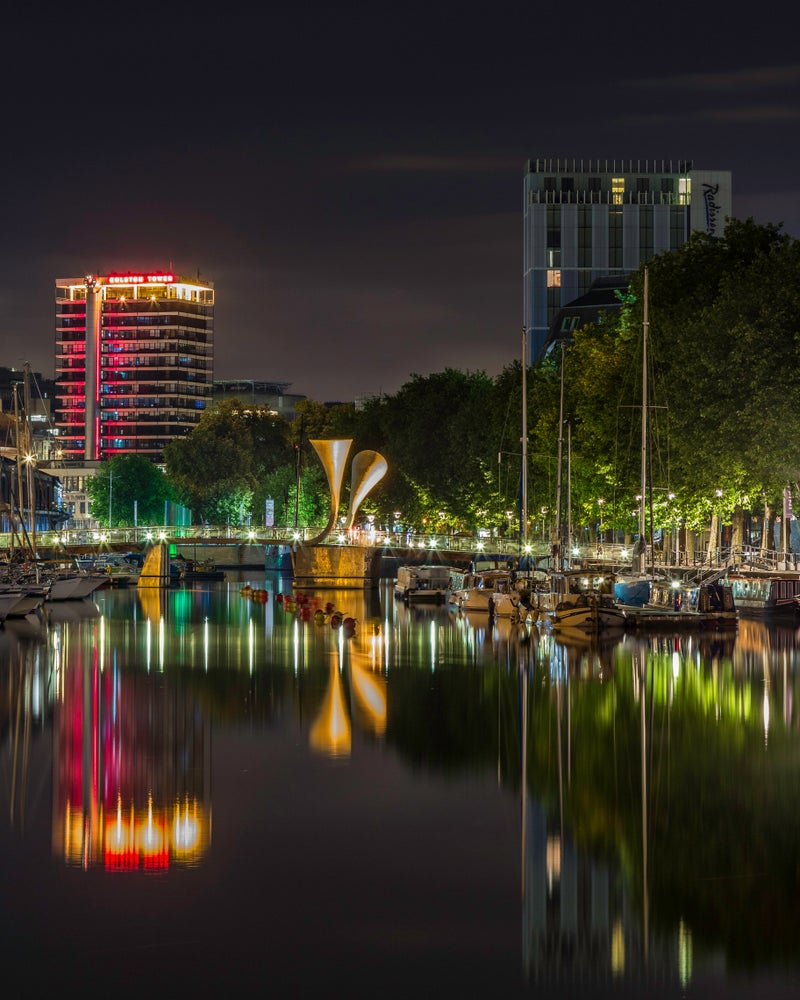 Image of Floating Harbour Reflections - Print.