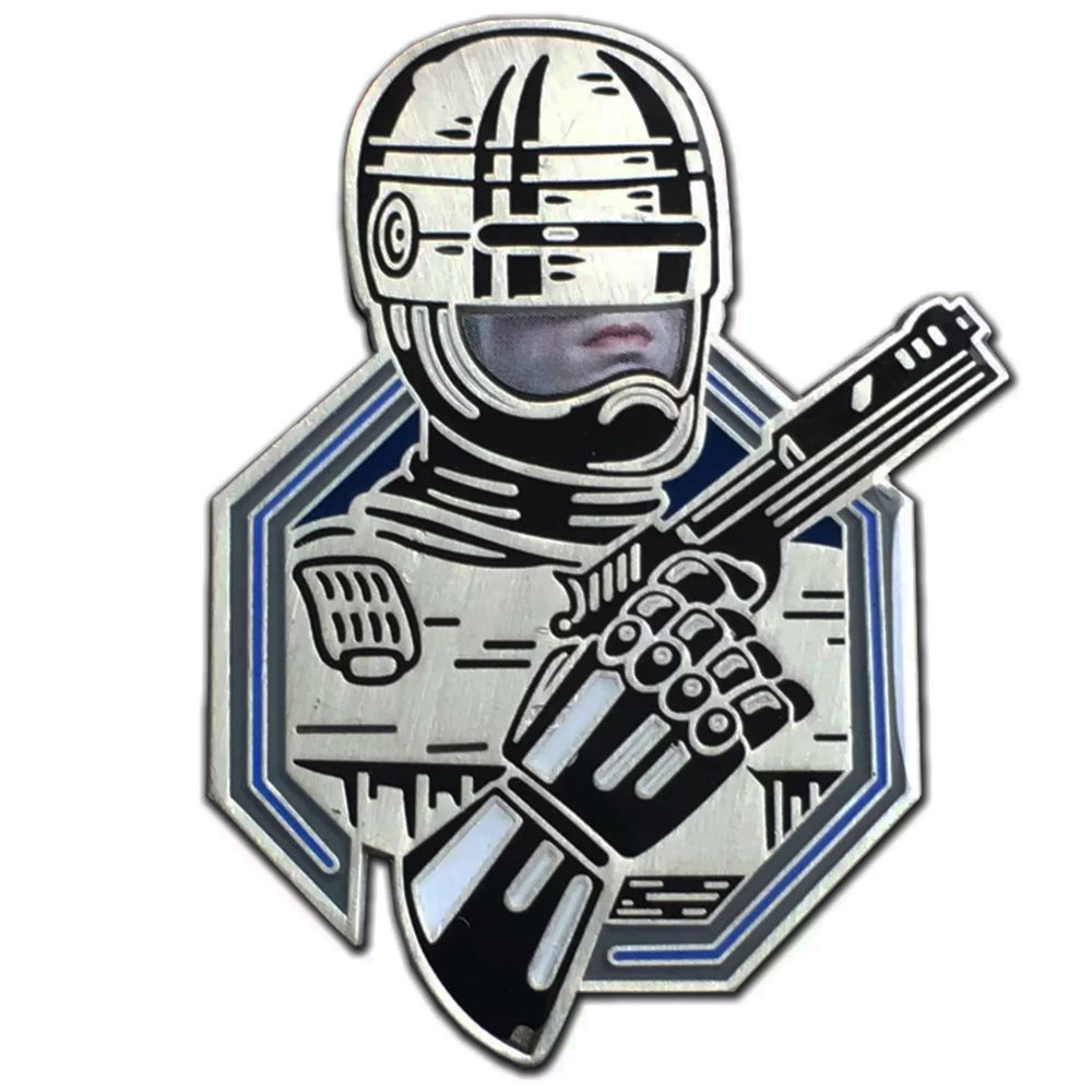 Image of Man or Machine - Lapel Pin