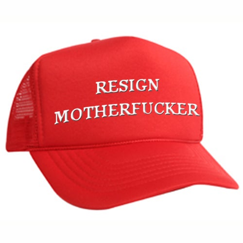 Image of Resign Motherfucker 5-panel Embroidered cap