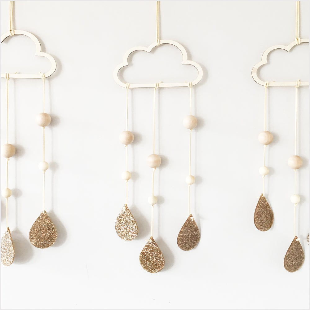 Image of Cloud and Droplets Wall Hanging