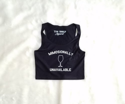 Image of MIMOSIONALLY UNAVAILABLE - Poly cotton crop tank