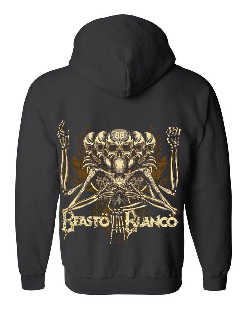 """Image of OFFICIAL - BEASTO BLANCO - """"BB"""" BLACK ZIP HOODIE"""