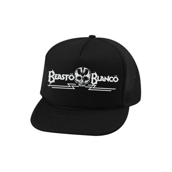 "Image of OFFICIAL - BEASTO BLANCO - ""SKULL"" LOGO BLACK HAT"