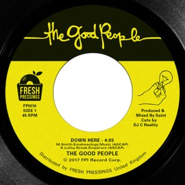 "Image of The Good People - 'Down Here'/'Game In The Step' 7"" (FPI010)"