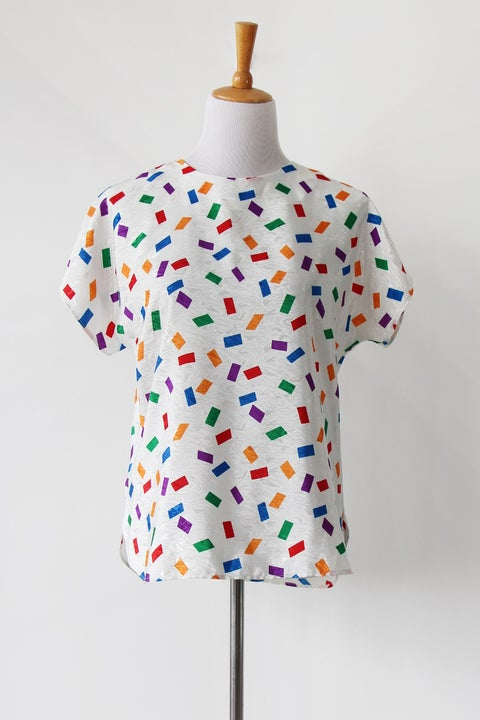 Image of SOLD Woo Confetti Blouse
