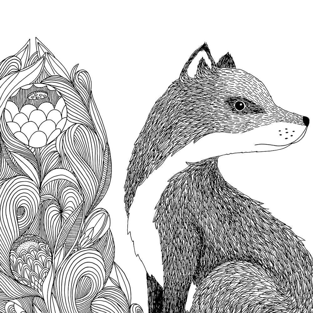 Image of Print: Flowery Fox