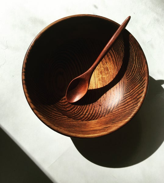 Image of Wooden bowl-boho glow