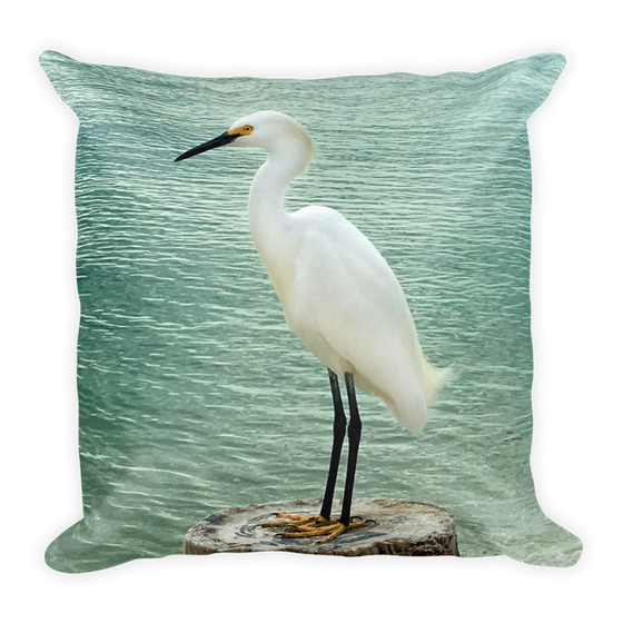 Image of The Egret Pillow