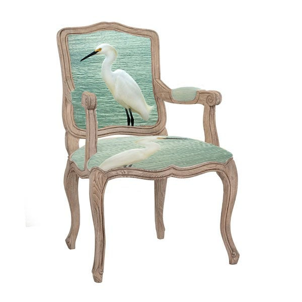 Image of The Egret Queen Anne Chair