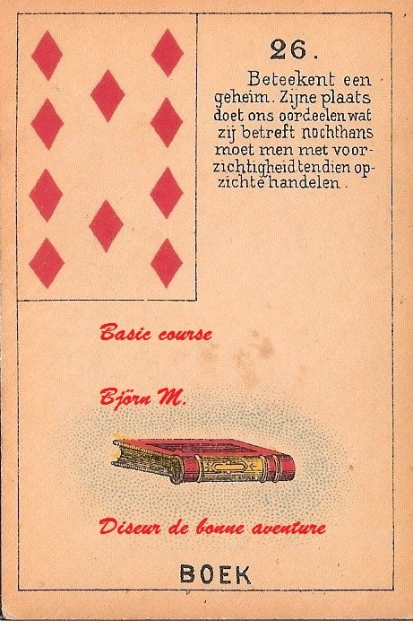 Image of Unique and authentic Petit Lenormand course (basics) by Björn Meuris
