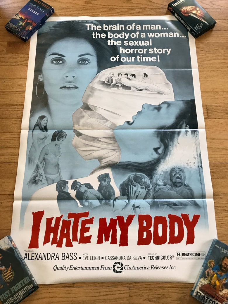 Image of 1974 I HATE MY BODY Original U.S. One Sheet Movie Poster