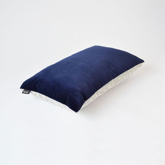 Image of Galaxy Velvet Navy Cushion Cover - Lumbar