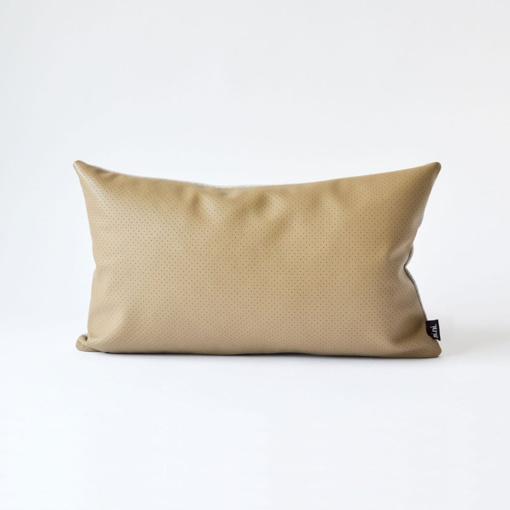 Image of Leather Dotty Cushion Cover -  Lumbar