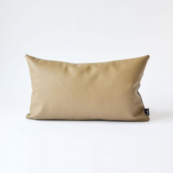 Image of Leather Dotty Cushion Cover - Rectangular