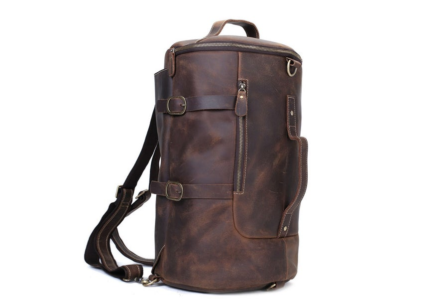Image of Handmade Vintage Leather Backpack, Travel Backpack, Messenger Bag, Sling Bag Z106