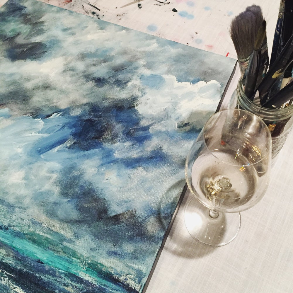 Image of September 22nd Paint the Sky with artist Jill Paddock