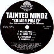 "Image of TAINTED MINDZ ""KILLADELPHIA EP"" (BLACK VINYL)"