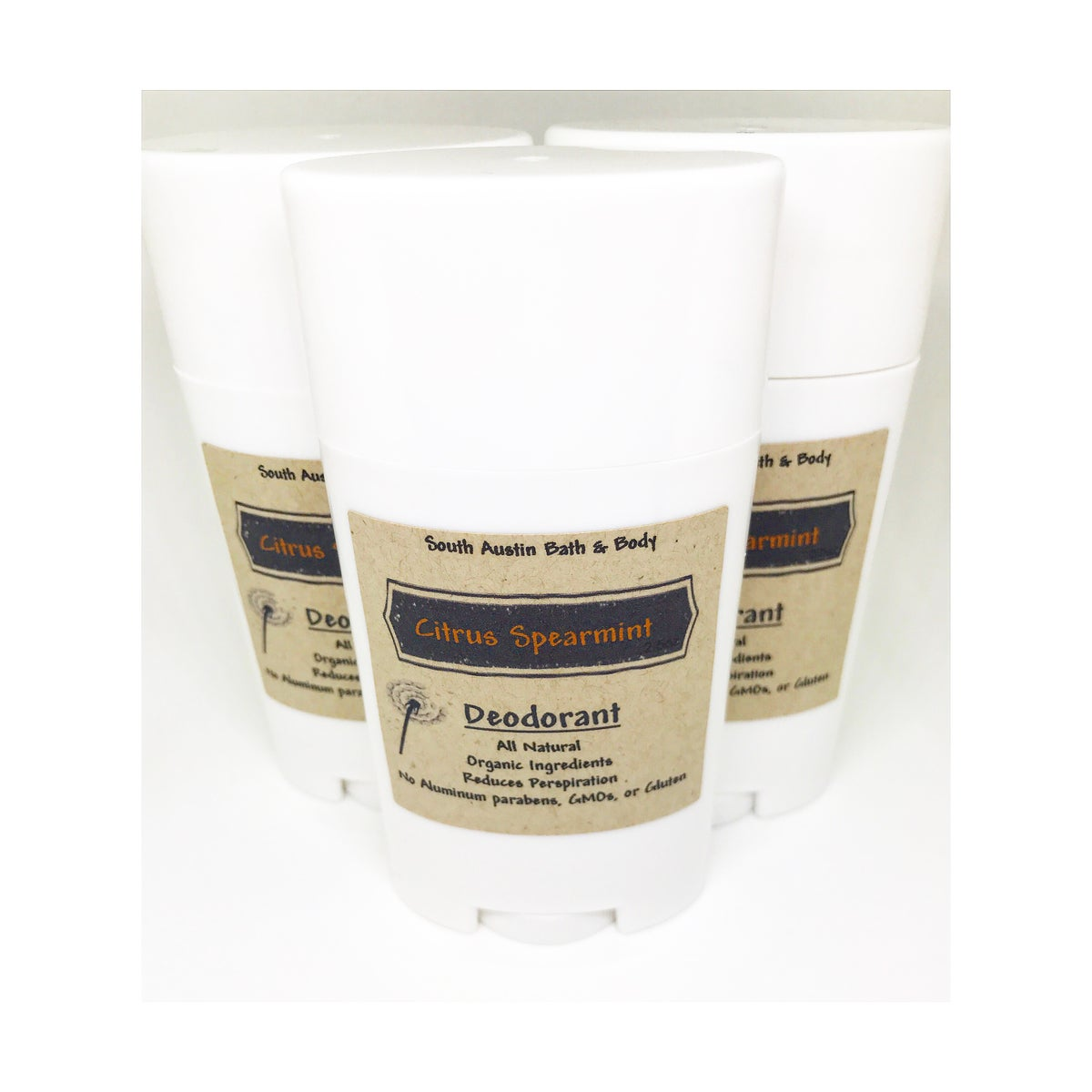 Image of Citrus Spearmint All Natural Chemical Free Deodorant 2.5oz