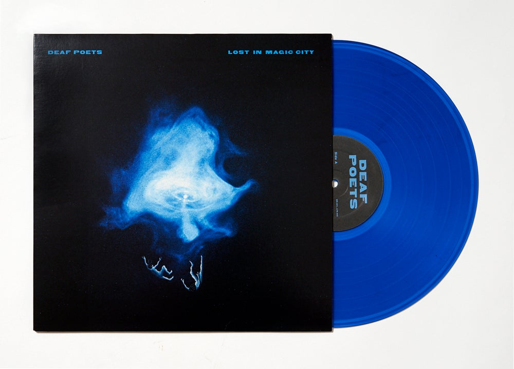 Image of Deaf Poets 'Lost In Magic City' Ltd Edt Indigo Blue