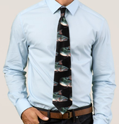 Image of Black Salmon Tie