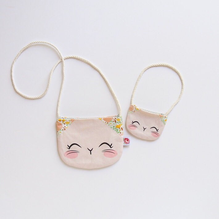 Image of Matching Kitty Purse Set - Blush