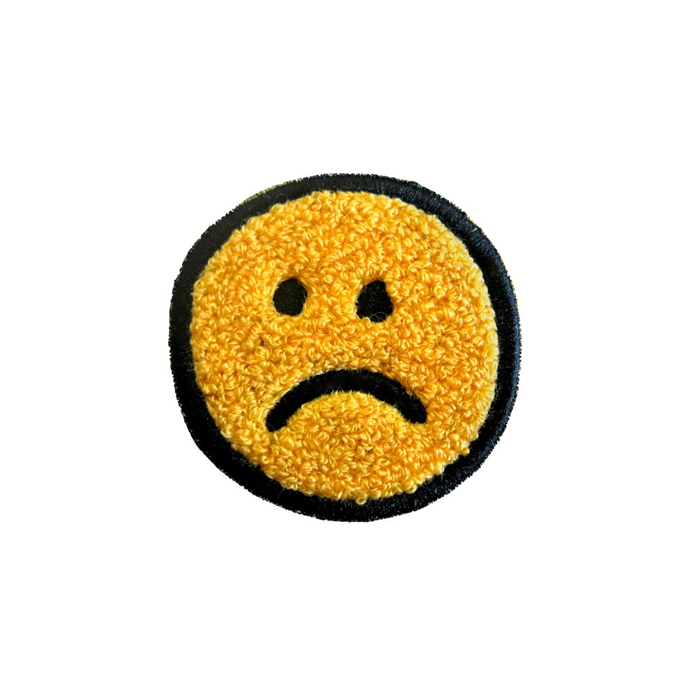 Image of Frown Face Chenille Patch