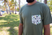 Image of California Homegrown Army Green  Pocket Tee