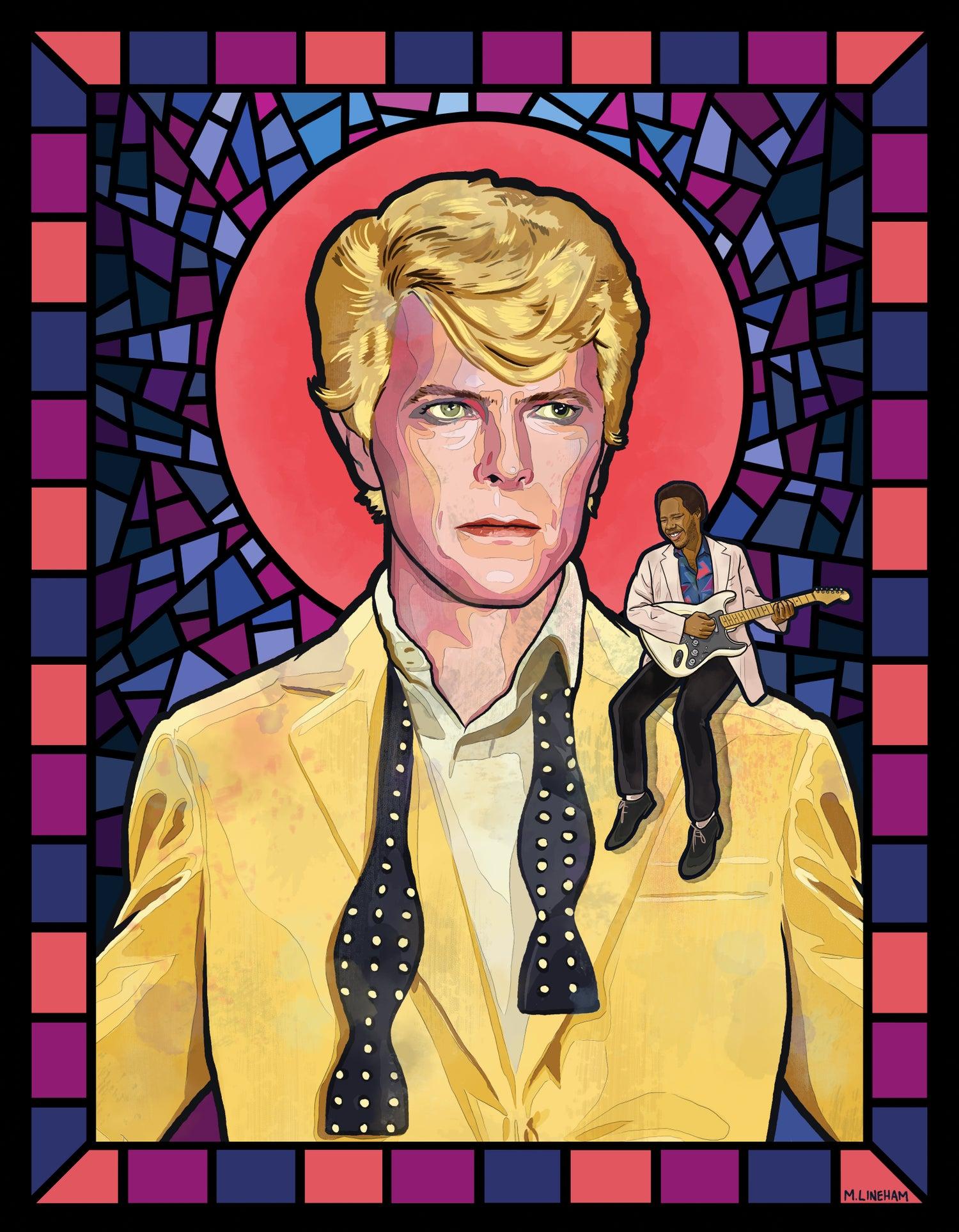 """Image of Saint David Bowie (""""Let's Dance"""" Era)"""