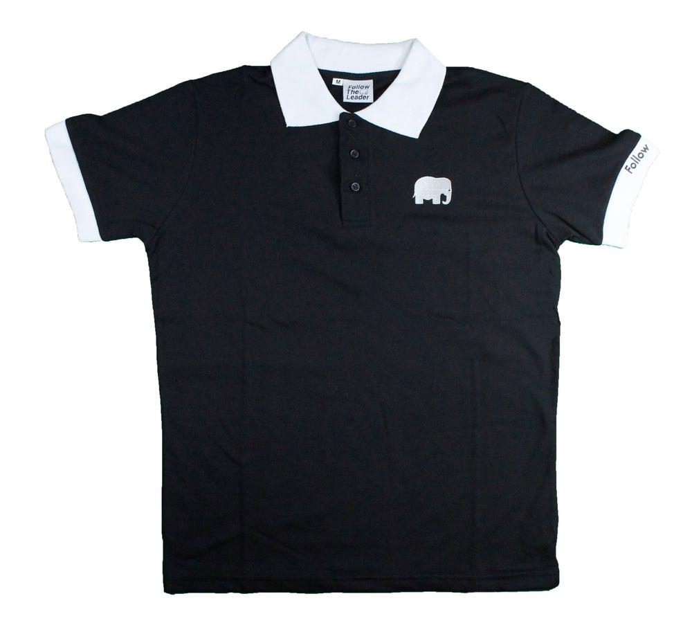 Image of Elephant Polo Short Sleeve (Black)