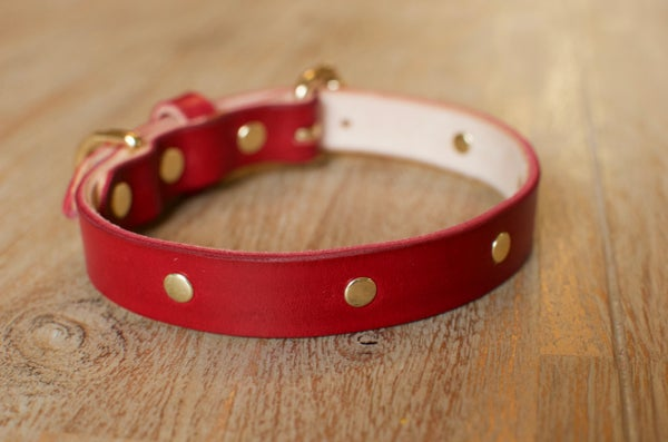 Image of Betty Boxer Leather Dog/Cat Collar