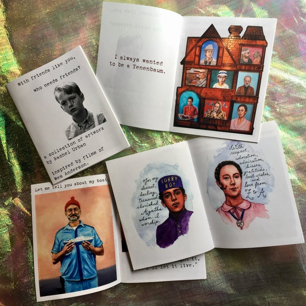 """Image of """"With friends like you, who needs friends?"""" Wes Anderson zine"""