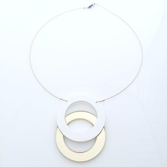 Image of Náhrdelník / Necklace DoubleCircle mirror