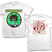 "Image of LUDICHRIST ""Psycho Skull MPAD"" White T-Shirt"
