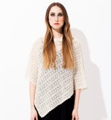Image of Laceknitted Poncho                          Offwhite