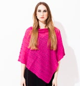 Image of Laceknitted Poncho                                   Cerise