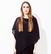 Image of Laceknitted poncho        Dark Greypurple