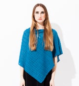 Image of Laceknitted poncho Dark Turqouise