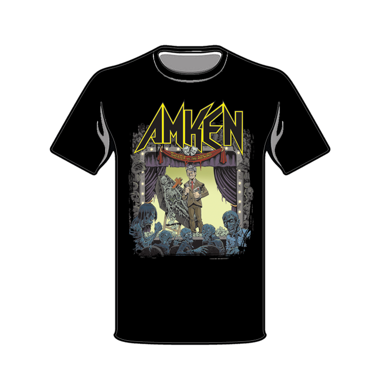 """Image of AMKEN """"THEATER OF THE ABSURD"""" Black T-shirt"""