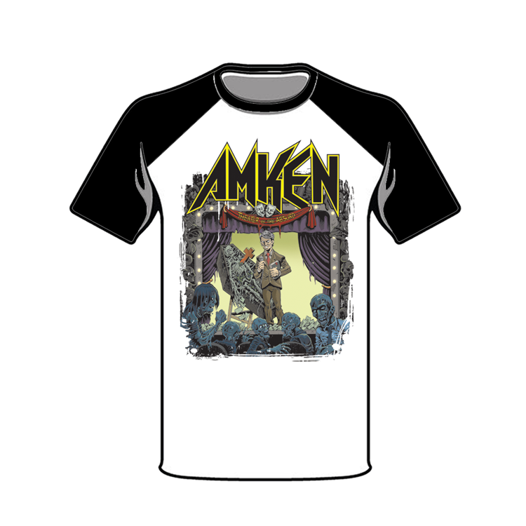 "Image of AMKEN ""THEATER OF THE ABSURD"" Baseball Tshirt"